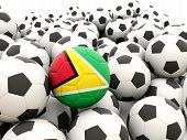 Football With Flag Of Guyana