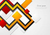 Abstract tech vector bright background