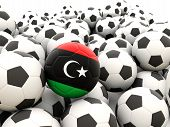 Football With Flag Of Libya