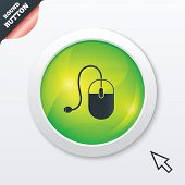 Computer mouse sign icon. Optical with wheel.