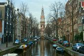 Westerkerk District In Amsterdam