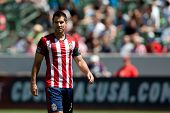 CARSON, CA - APRIL 6: Chivas USA D Carlos Bocanegra (3) during the MLS game between the Los Angeles