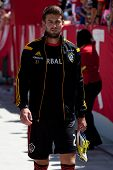 CARSON, CA - APRIL 6: Los Angeles Galaxy M Tommy Meyer (21) during the MLS game between the Los Ange
