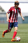 CARSON, CA - APRIL 6: Chivas USA M Kristopher Tyrpak (21) during the MLS game between the Los Angele