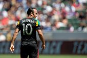 CARSON, CA - APRIL 6: Los Angeles Galaxy M Landon Donovan (10) during the MLS game between the Los A