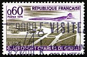 Postage Stamp France 1974 Charles De Gaulle Airport, Paris