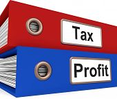 Tax Profit Folders Show Paying Income Taxes