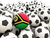 Football With Flag Of Vanuatu