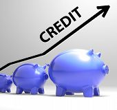 Credit Arrow Means Lending Debt And Repayments