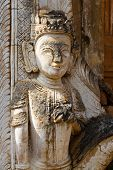 Ancient Statues At Inn Thein Paya, Shan State, Myanmar