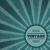 Vintage sunburst advertisement template