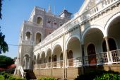 stock photo of gandhi  - A beautiful palace in Pune - JPG