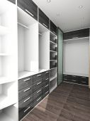 Big Closet In Home Interior
