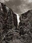 Nice Black and white dramatic image of bridalveil Fall