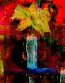 Beautiful Original Oil Painting On Glass in Verso