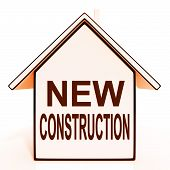 New Construction House Shows Recent Building Or Development
