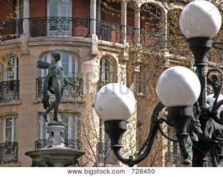 poster of Paris City Statue