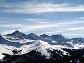 stock photo of rocky-mountains  - Ten Mile Range in the Rocky Mountains of Colorado - JPG