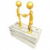 Employment Blank Check Handshake