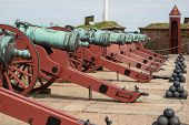 foto of cannon-ball  - Cannons and balls at Elsinore Castle Denmark - JPG