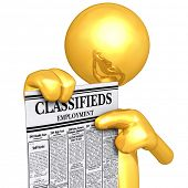 Gold Guy With Employment Classifieds