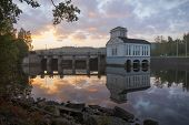 Old Power Plant In The Morning