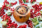 Pumpkin Stuffed With Buckwheat And Onions