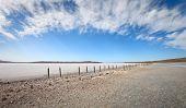 Dry Lake Under Blue Sky