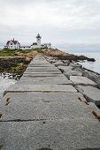 Dogleg Breakwater at Eastern Point Lighthouse