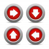 Set of arrow buttons