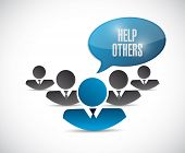 stock photo of helping others  - help others team illustration design over a white background - JPG