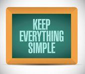 Keep Everything Simple Illustration Design