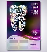 Dental brochure, flyer, magazine cover or poster template.