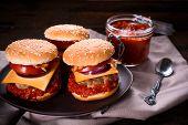 Ajvar Salad And Beef Burger