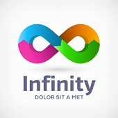 Infinity loop symbol logo icon