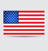 American Flag For Independence Day. Vector Illustration
