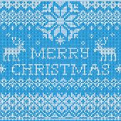 Merry Christmas: Scandinavian style seamless knitted pattern wit