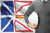 Engineer With Flag On Background Series - Newfoundland And Labrador