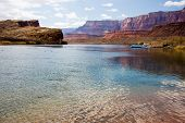picture of grand canyon  - Colorado River at Lees Ferry Crossing is also mile zero of the Grand Canyon rafting voyage - JPG