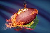 American Football Ball With Flag On Backround Series - Vermont