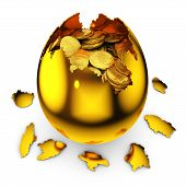 Egg With Dollar Coins