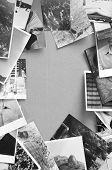 foto of analogy  - Black and white analog photos vintage background - JPG