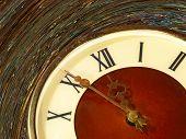 Vintage Clock Face Taken Closeup.