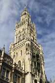 Clock Tower Of New Town Hall, Marienplatz, Munich.