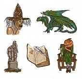 Halloween Avatars - An Hand Drawn Pack
