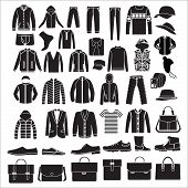 Men's Fashion Clothes And Accessories   - Illustration