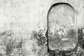 The Old Plastered Wall In Monochrome Tones