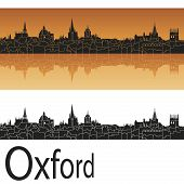 Oxford Skyline In Orange Background