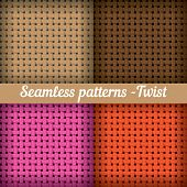 Weaving, basket. Set of seamless abstract vector pattern.