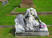Headless Woman Gravestone